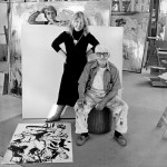 Lisa, Elaine and Willem de Kooning, via the New York Times