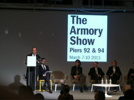 Mayor Bloomberg Makes the Opening Remarks at The Armory Show