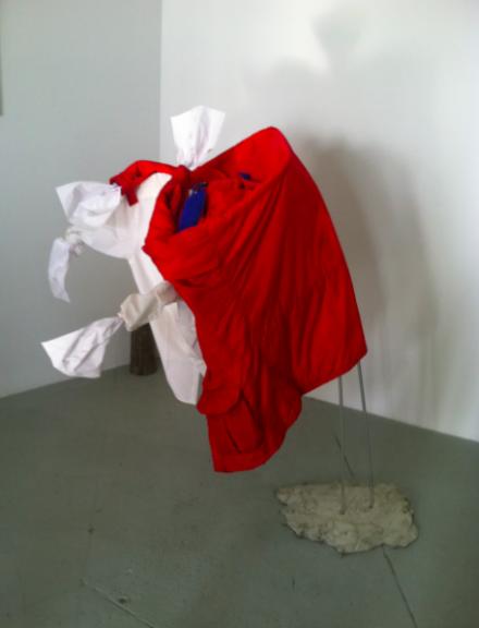 Natalie Housler's Shirt Sculpture, via Daniel Creahan for Art Observed
