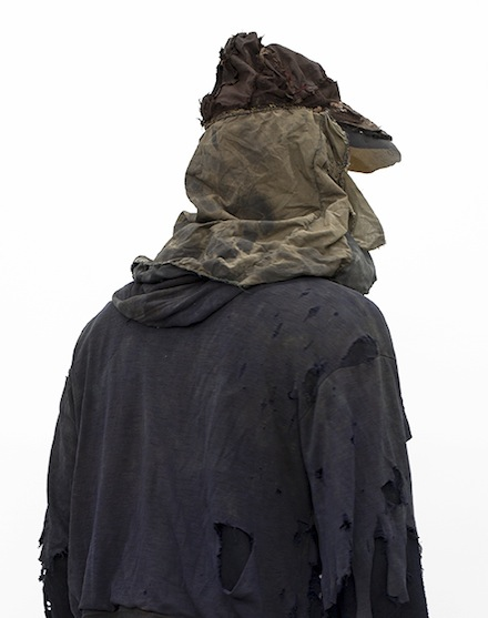 Nick van Woert, Microscope (2013), (Nick van Woert in Ted Kaczynski's clothes), courtesy of the artist and OHWOW