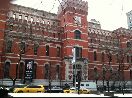 Outside the Park Ave Armory for the ADAA Art Show