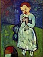 Pablo Picasso Child with Dove (1901), via The Independent