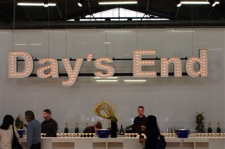 Peter Liversidge Day's End (2013) over The Armory Show Bar