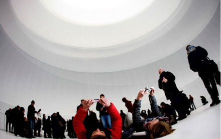 Press Preview for Christo, Big Air Package (2013) via Reuters