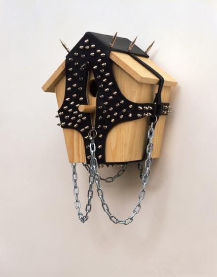 Wim Delvoye, Nichoir #15 (1997), via Galerie Guy Bartschi