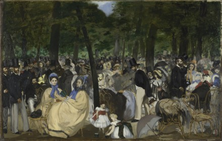 Édouard Manet, Music in the Tuileries Gardens (1862), via Royal Academy of Arts