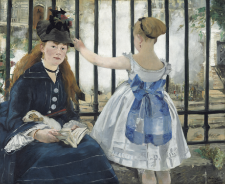 Édouard Manet, The Railway (1873), via Royal Academy of Arts