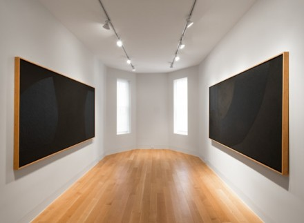 Alberto Burri, Black Cellotex (Installation View), via Luxembourg and Dayan