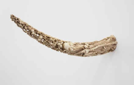 Danh Vo, Lot 12. A Vietnamese Carved Ivory Tusk (2013), via Marian Goodman