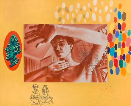 David Salle, Reliance (1985), via Skarstedt Gallery