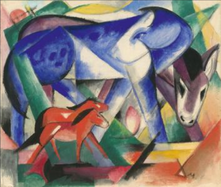 Franz Marc, The First Animals (1913), via Neue Galerie
