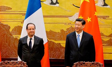 French president François Hollande meets Chinese president Xi Jinping in Beijing