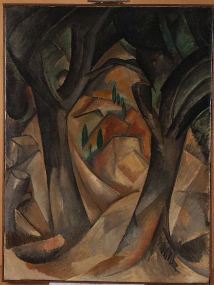 Georges Braque, Trees at L'Estaque (1908), via New York Times