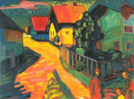 Vasily Kandinsky, Murnau: Street with Women (1908), Courtesy The Neue Galerie New York