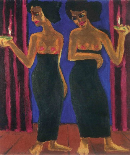 Emil Nolde, Priestesses (1912), Courtesy The Neue Galerie New York