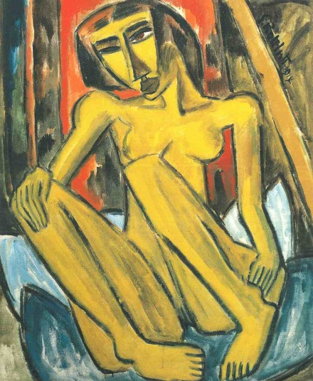 Karl Schmidt-Rottluff, Nude (1914), Courtesy The Neue Galerie New York