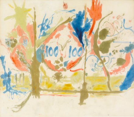 "Helen Frankenthaler, Eden (1956), © 2013 Estate of Helen Frankenthaler/Artists Rights Society (ARS), New York. Courtesy Gagosian Gallery. Photography by Robert McKeever""."