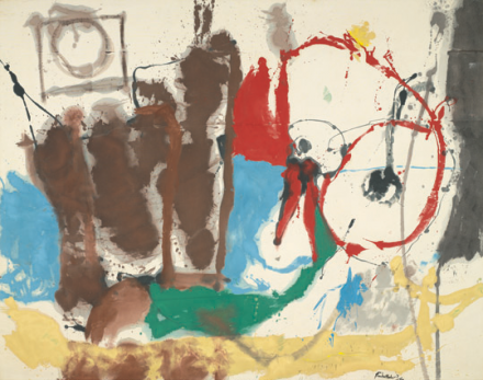 Helen Frankenthaler, Mother Goose Melody (1959), Courtesy Virginia Museum of Fine Arts, Richmond. Gift of Sydney and Frances Lewis. © 2013 Estate of Helen Frankenthaler/Artists Rights Society (ARS), New York. Courtesy Gagosian Gallery. Photography © Virginia Museum of Fine Arts