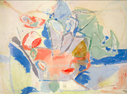 Helen Frankenthaler, Mountains and Sea (1952), Gagosian Gallery