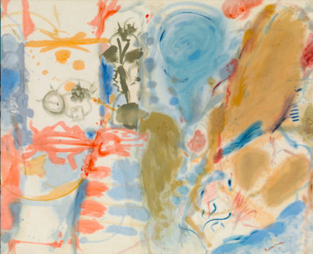 "Helen Frankenthaler, Western Dream (1957), © 2013 Estate of Helen Frankenthaler/Artists Rights Society (ARS), New York. Courtesy Gagosian Gallery. Photography by Robert McKeever""."