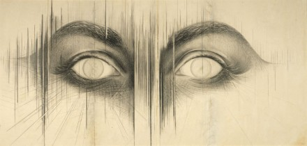 Jay DeFeo, The Eyes, (1958), via The Whitney