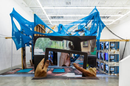 Jon Kessler, The Web (Installation View), via Swiss Institute