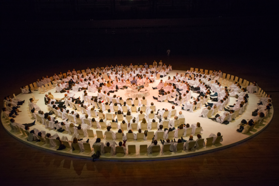 Karlheinz Stockhausen And Rikrit Tiravanija Oktophonie Installation View Via Park Avenue Armory