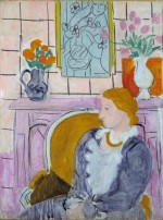 Matisse, Woman in Blue in Front of Fireplace