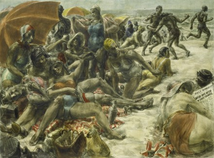Reginald Marsh, Negroes on Rockaway Beach (1934), via The Whitney Museum
