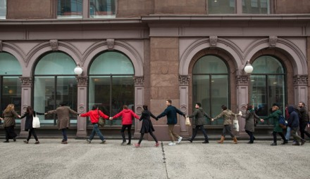 Students Circle the Cooper Union, via New York Times