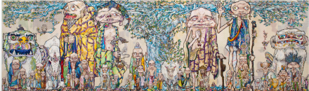 Takashi Murakami, 69 Arhats Beneath the Bodhi Tree, (2013), via Blum and Poe