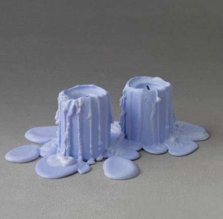 Ugo Rondinone, still.life (wisteria purple candle) (2013), via Almine Rech