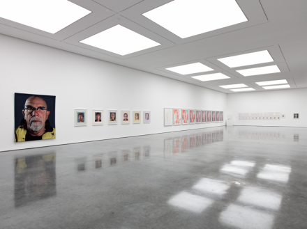 Chuck Close, Prints: Process and Collaboration (Installation View), via White Cube