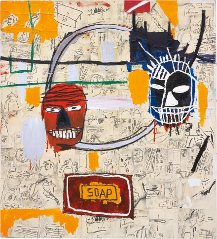 Jean-Michel Basquiat Untitled (Soap), (1983-84), courtesy of Phillips, which did not sell at yesterday evenings auction.