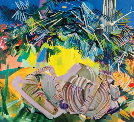 Dana Schutz, Dead Zebra (2003), courtesy of Phillips.
