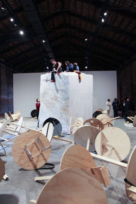 An installation view at the Arsenale