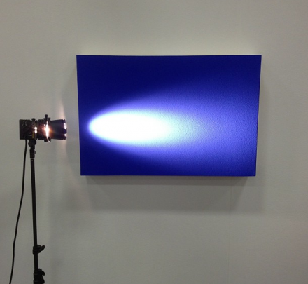 A miniature light installation, at NADA