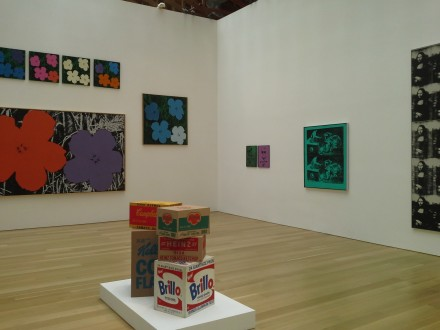 Andy Warhol (Installation View), via Alexandra Bregman for Art Observed