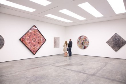 Damien Hirst, Entomology Cabinets and Paintings, Scalpel Blade Paintings and Colour Charts (Installation View), via White Cube Hong Kong