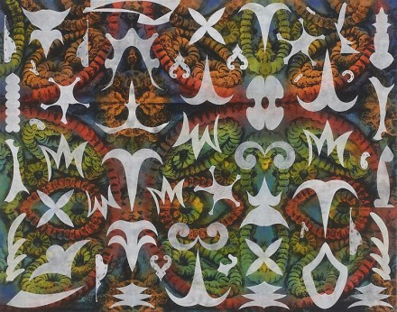 Philip Taaffe, Earth Star I (2013), courtesy Luhring Augustine Gallery