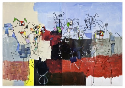 George Condo, Downtown New York (2012), Copyright George Condo / ARS (Artists Rights Society), New York, 2013 via Sprueth Magers