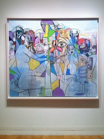 George Condo, Purple and Yellow Abstraction (2012), via Daniel Creahan