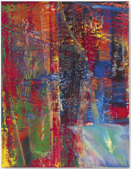 Gerhard Richter, Abstraktes Bild, Dunkel (613-2) (1986) which sold for $21 Million, via Christie's
