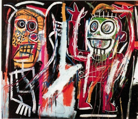 Jean-Michel Basquait, Dustheads (1982), via Christie's