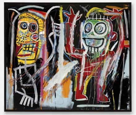Jean-Michel Basquiat, Dustheads (1982), via Christie's