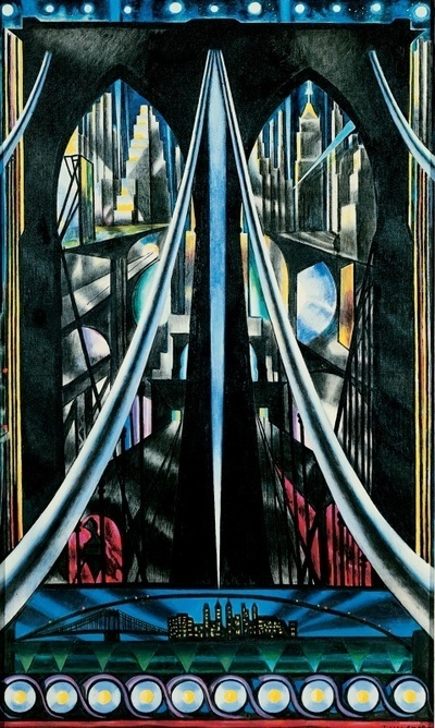 Joseph Stella, The Brooklyn Bridge: Variation on an Old Theme, (1939), via The Whitney Museum
