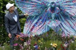 Marc Quinn with his Orchid Sculpture, via Evening Standard