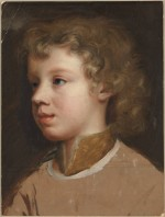 Mary Beale, Sketch of the Artist's Son, Bartholomew Beale, Facing Left (1660), via Tate Britain