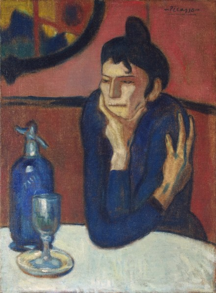 Pablo Picasso,  Absinthe Drinker (1901), via Courtauld Gallery