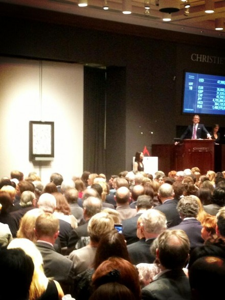Pollock's Number 19 Sells to Applause at Christie's, via Charles Shoener for Art Observed